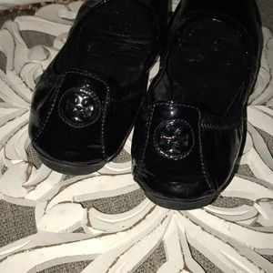 Tory Burch Shoes - Tory Burch Black Patent Leather Flats Shoes 7.5